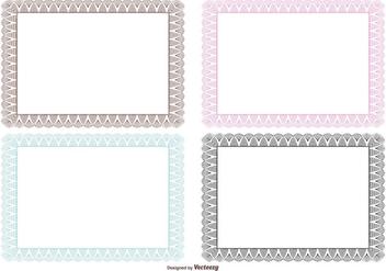Guilloche Certificate Borders - Free vector #395613