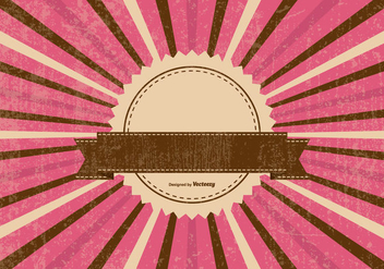 Colorful Retro Sunburst Background - Kostenloses vector #395633