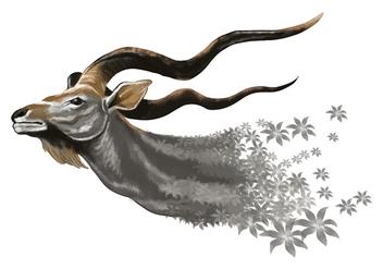 Whimsical Kudu Vector - Free vector #395713