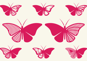 Cutout Butterfly - Free vector #395923
