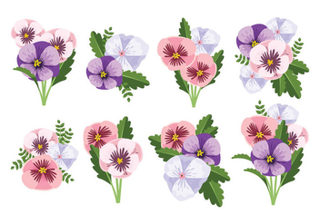Free Pansy Flower Vector - Free vector #396123