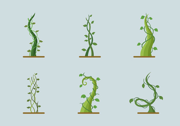 Green growing plant beanstalk - Free vector #396433