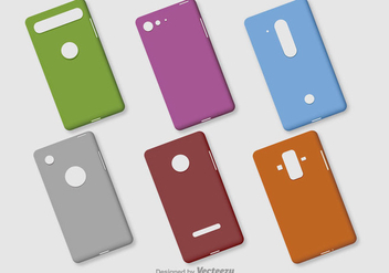Blank Phone Vector Cases - Kostenloses vector #396573