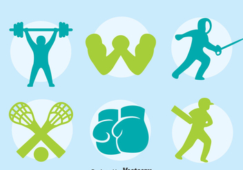 Silhouette Sports Icons Vector - Free vector #396733