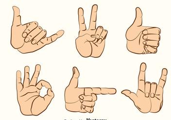 Hand Gestures Vector Set - Free vector #396743
