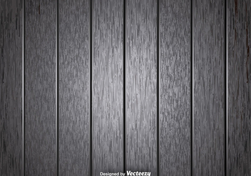 Vector Gray Wooden Planks Background - Free vector #396953