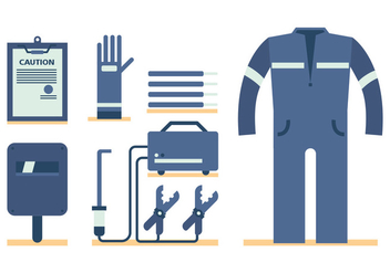 Welding Worker Vector Set - vector gratuit #397023