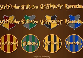 Hogwarts Vector Lettering - Free vector #397053