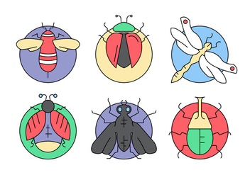 Free Vector Bugs and Insects - бесплатный vector #397133