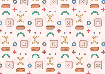 Geometric Pattern Illustration - Free vector #397153