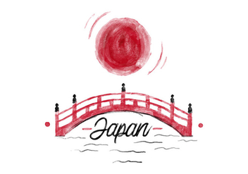 Free Japan Watercolor Vector - Free vector #397233