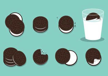 Free Oreo Cookies Vector - Free vector #397463