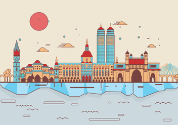 Mumbai Landmarks Vector - Kostenloses vector #397523