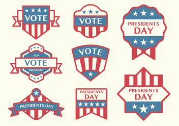Election Badge Vectors - Kostenloses vector #398193