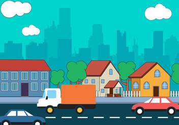 Free City Landscape Vector Design - бесплатный vector #398233