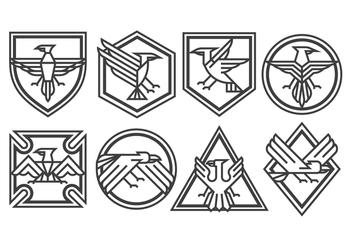 Eagle Badge Vectors - Free vector #398253