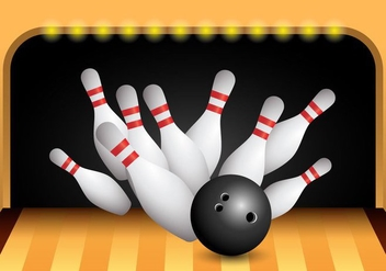 Bowling Alley Strike Vector - бесплатный vector #398403