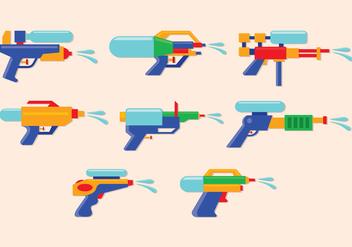 Water Gun Vector Icons - Free vector #398443