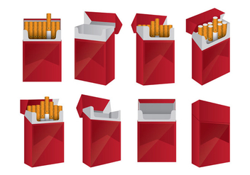 Set Of Cigarette Packs - vector gratuit #398453