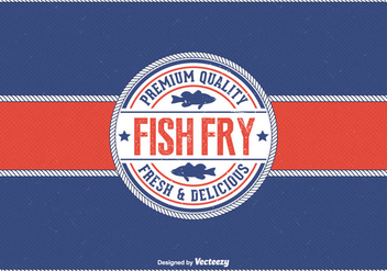 Free Vintage Friday Fish Fry Vector Background - Free vector #398773