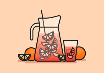 Sangria Line art Illustration - бесплатный vector #399053