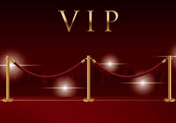 Velvet Rope Background Vector - vector #399153 gratis