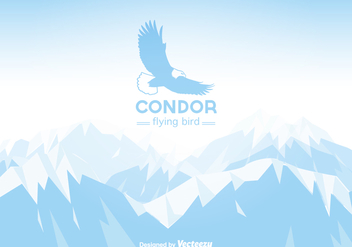 Free Vector Winter Mountain Landscape With Condor - Free vector #399233