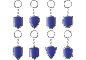 Set Of Key Holder Vectors - vector gratuit #399323