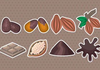 Cocoa Beans Icons - vector gratuit #399383