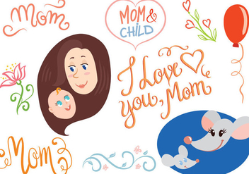 Free Mother Child Vectors - Free vector #399403