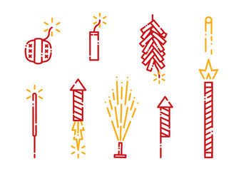 Fire Crackers Icon Vector - Free vector #399413
