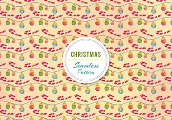 Christmas Ornament and Candy Cane Vector - vector #399463 gratis
