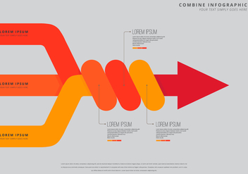 Combine Infographic Template - Free vector #399483