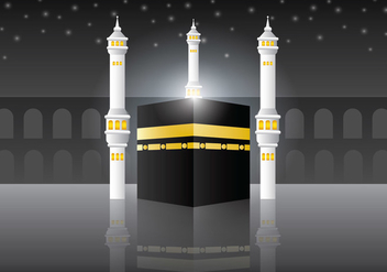 Makkah Al-Mukaram Vector Background - vector gratuit #399493