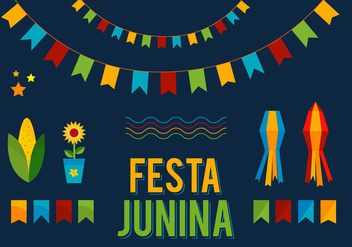 Free Vector Junina Elements - Free vector #399563