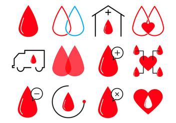 Free Blood Donation Icon Vector - vector gratuit #399663