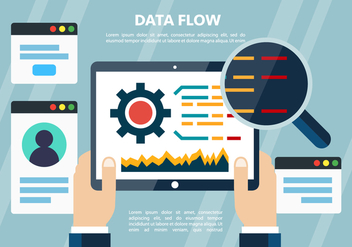 Free Flat Digital Data Vector Elements - Kostenloses vector #399783