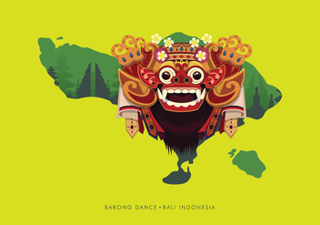 Barong Bali Illustration - vector gratuit #399863