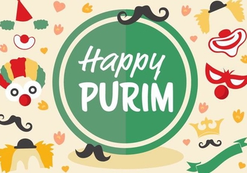 Free Jewish Holiday Purim Vector - vector gratuit #399943