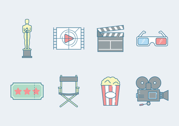 Free Film Industry Icon - vector gratuit #400153