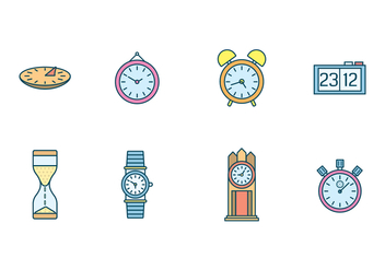 Free Clocks Vector - бесплатный vector #400243