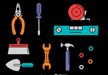 Home Repair Tools Vector Set - Kostenloses vector #400323