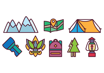 Free Camping Icon Set - Free vector #400413