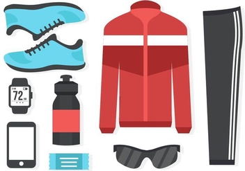 Free Running Equipment Vector - Kostenloses vector #400483