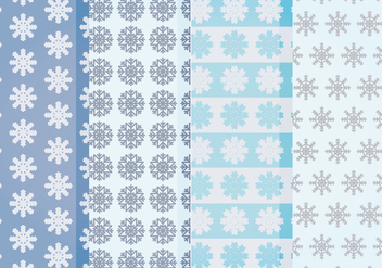 Vector Snowflakes Patterns - vector gratuit #400493