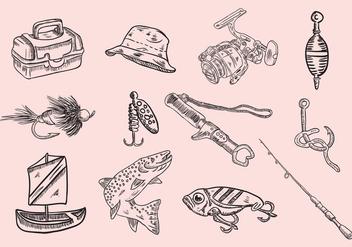 Fishing Icon Set - Free vector #400593