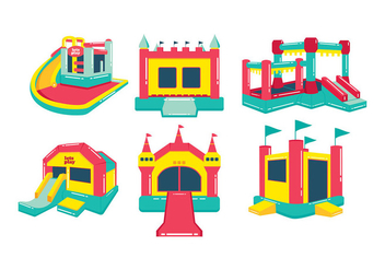 Bounce House Vector - Free vector #400683