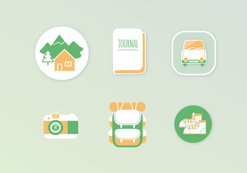 Adventure Vector Icons - vector gratuit #400783