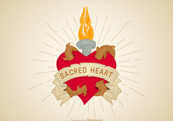 Free Vector Sacred Heart Illustration - Kostenloses vector #400803
