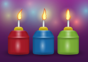 Free Realistic Traditional Pelita Lamp Vector - Free vector #400963